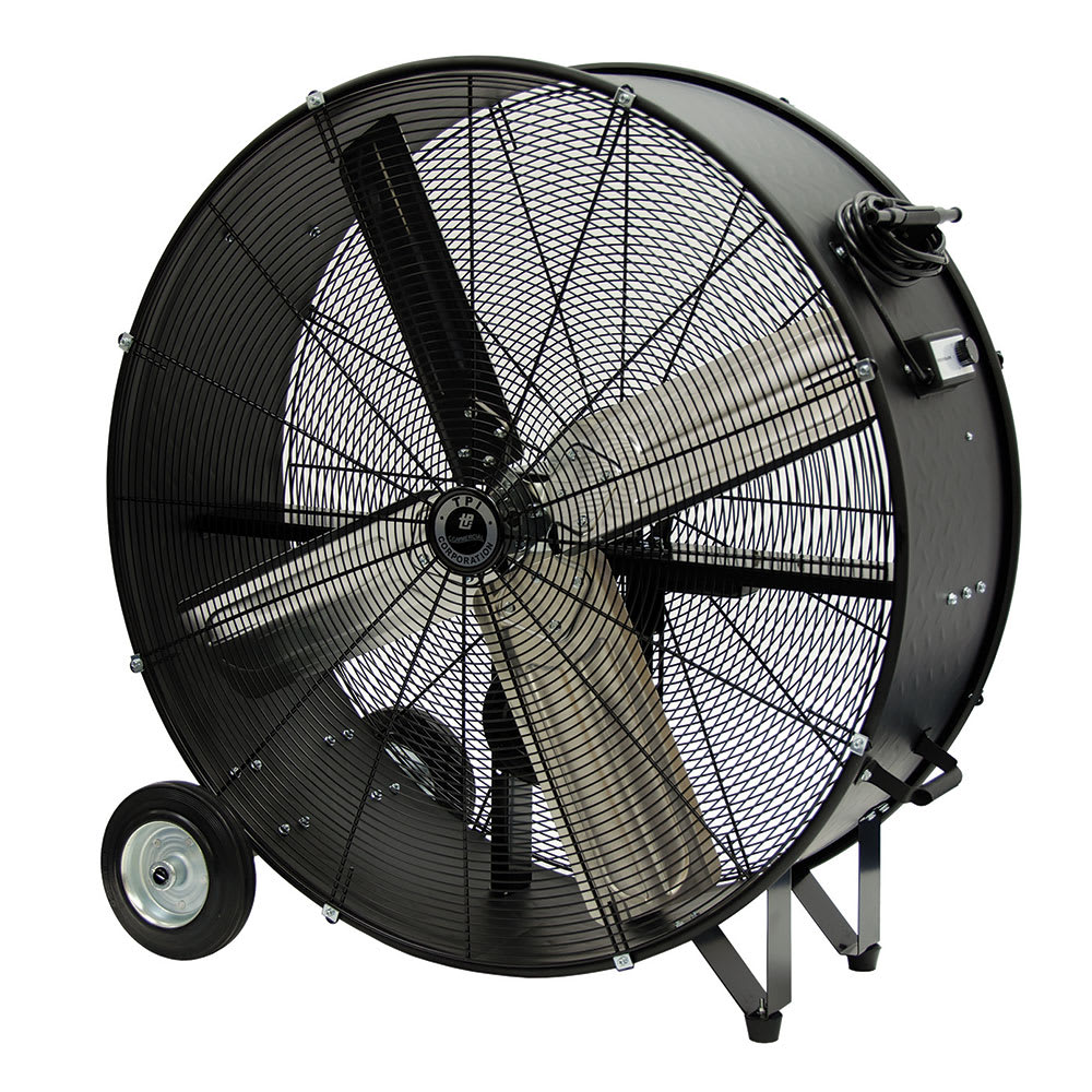 Portable Drum Fan : Tpi cpb b quot portable drum fan w speeds steel v