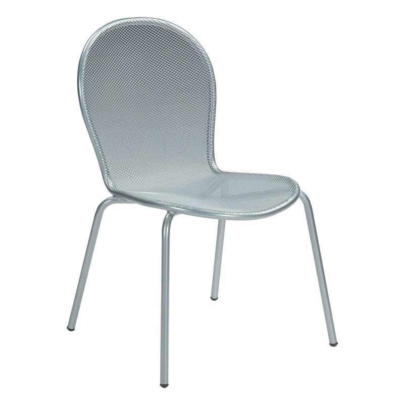 EMU 111 ALU Ronda Side Chair, Mesh Seat & Back, Tubular F...