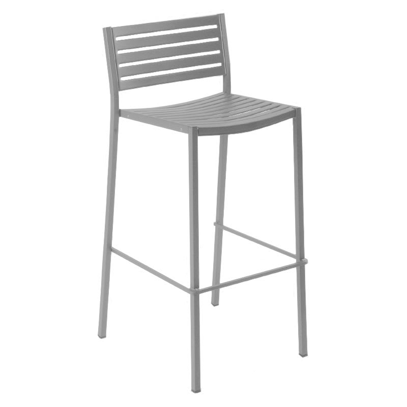 Emu 264 Alu Segno Barstool Steel Slat Seat Amp Back Square
