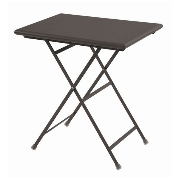 EMU 334 28 Rectangular Folding Table w/ Solid Top, Aluminum