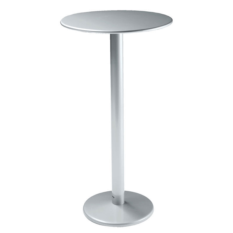 emu 902h alu bistro bar table 32 diameter solid pedestal aluminum. Black Bedroom Furniture Sets. Home Design Ideas