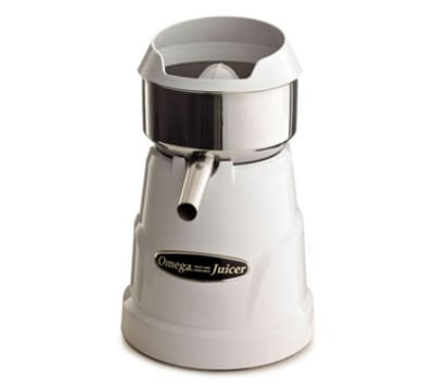Omega C10W Citrus Juicer w/ 3 Cones, Stainless Steel Bowl...