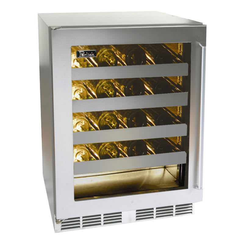 Perlick HD24WS-67118T 24 One Section Wine Cooler w/ (1) Z...