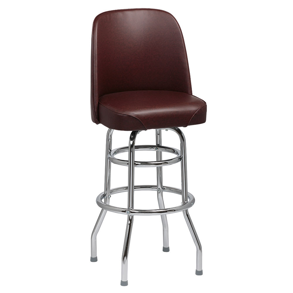 Royal Industries Roy 7722 Brn Double Ring Bar Stool W
