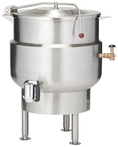 VULCAN K20DL 20-Gallon Stationary Kettle w/ 2 Compression Draw-Off Valve