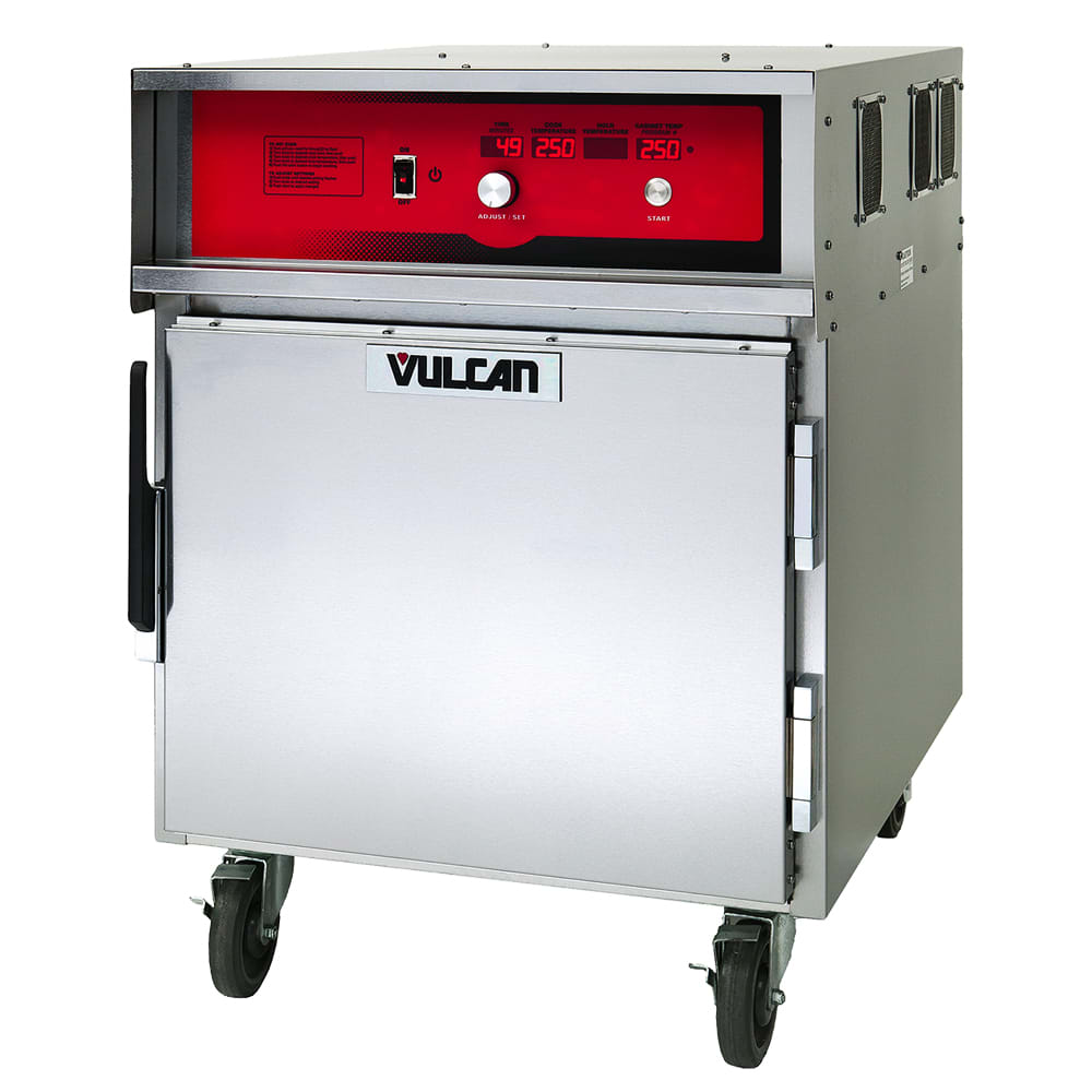 VULCAN VCH5 1/2-Height Mobile Heated Cabinet w/ (5) Pan C...