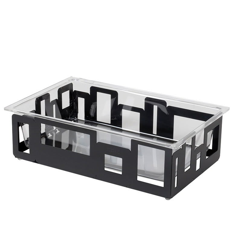 Rosseto SM113 Rectangular Ice Tub - 21x13x6 Acrylic/Black