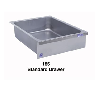 Duke 185 Standard Drawer, Stainless Face Plate, On Roller...