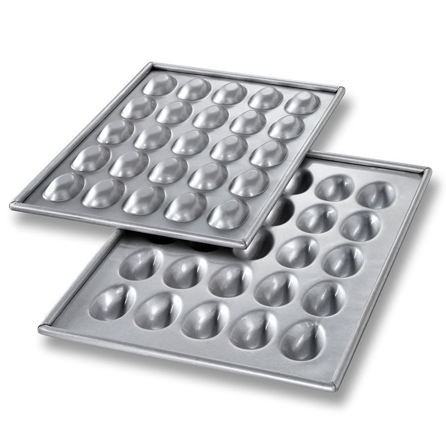 Chicago Metallic 47255 Mini Egg/Football Cake Pan Set, Ma...
