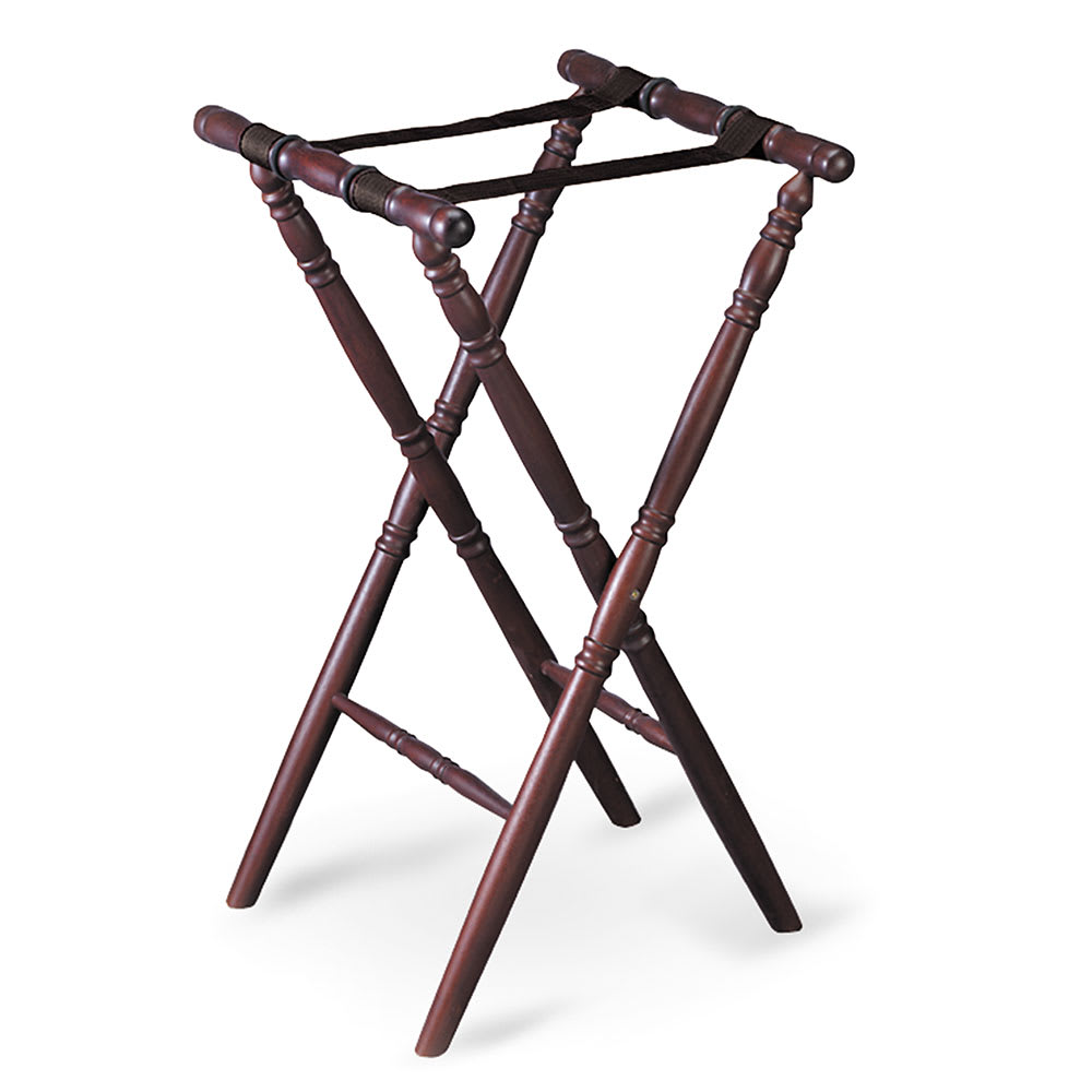 Tablecraft 31 Tray Stand w/ Mahogany Finish, Spindle Desi...