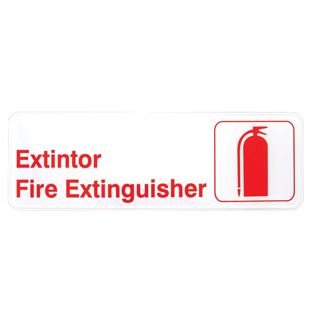 Tablecraft 394582 Extintor/Fire Extinguisher Sign - 3 x 9...