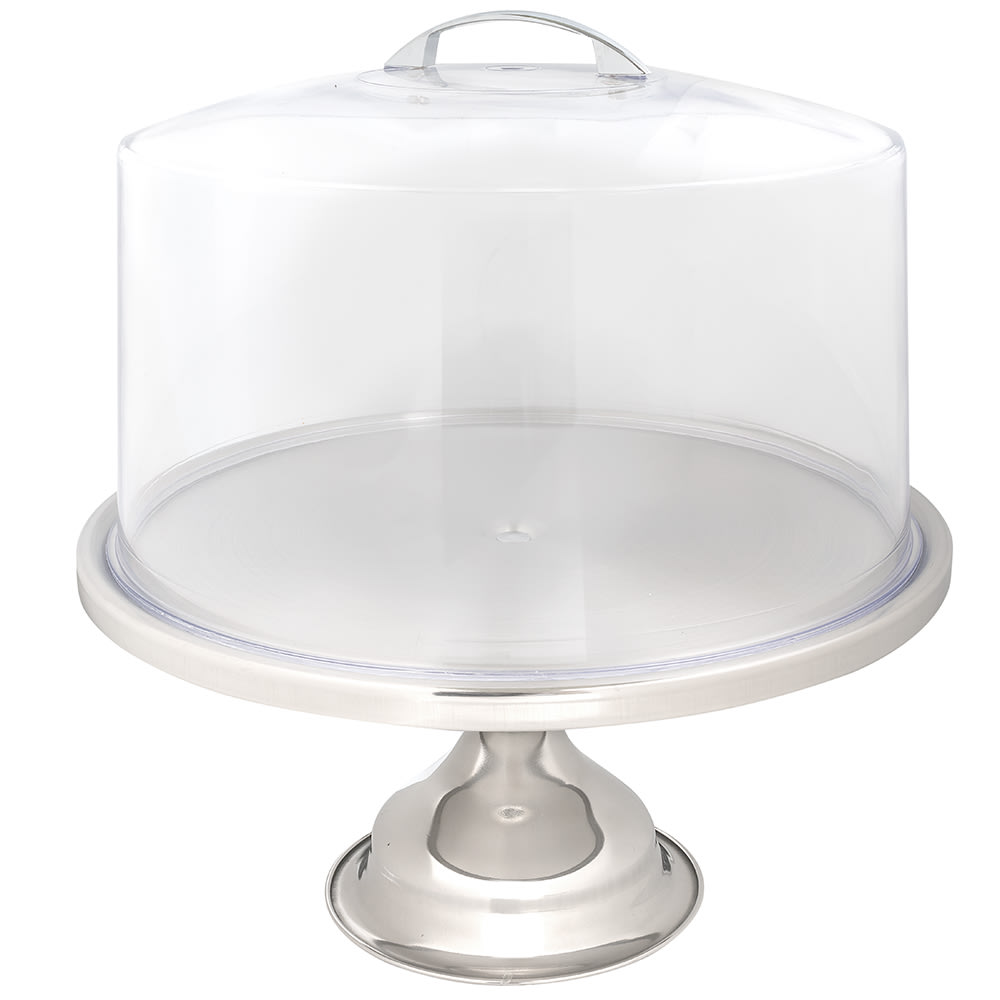 Tablecraft Box of 2] Individually Boxed Cake Stand & Cover Set