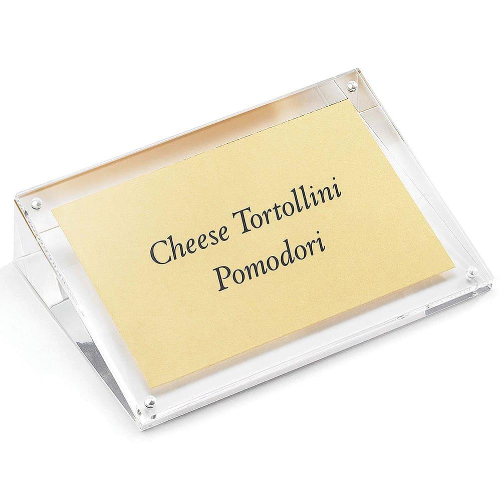 Tablecraft ACHS46 Tabletop Menu Card Holder - 4 x 6, Acrylic