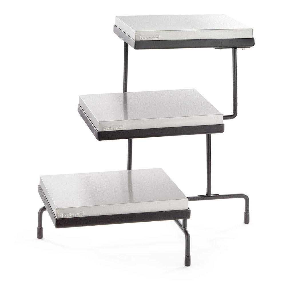 Tablecraft CW40309B 3-Tier Riser Set w/ Half-Size Cooling...