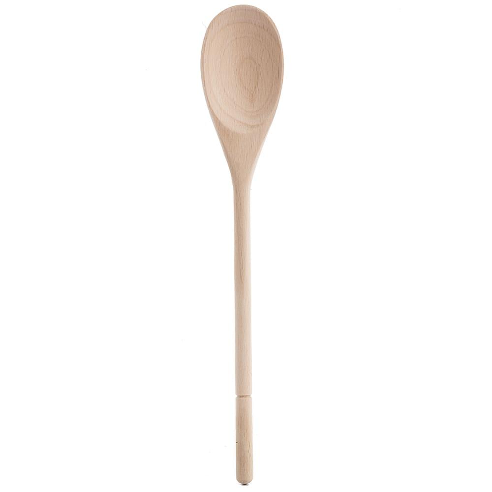 """Tablecraft W12 12"""" Beech Wood Wooden Spoon"""