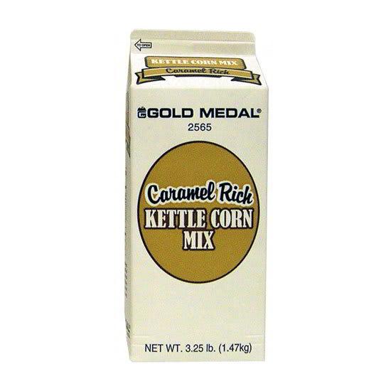 Gold Medal 2565 3.25-lb Caramel Rich Kettle Corn Mix, 6/Case