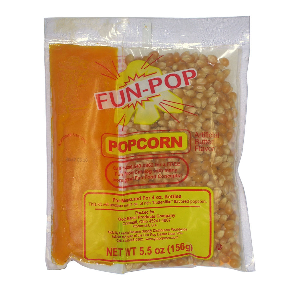 Gold Medal 2834 FunPop MegaPop Kit, 4-oz, Includes Corn, ...