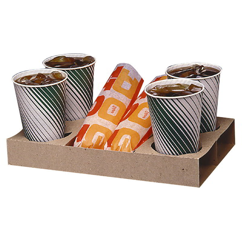 Gold Medal 5200 Disposable Snack Bat Carry-Out Trays, Dri...