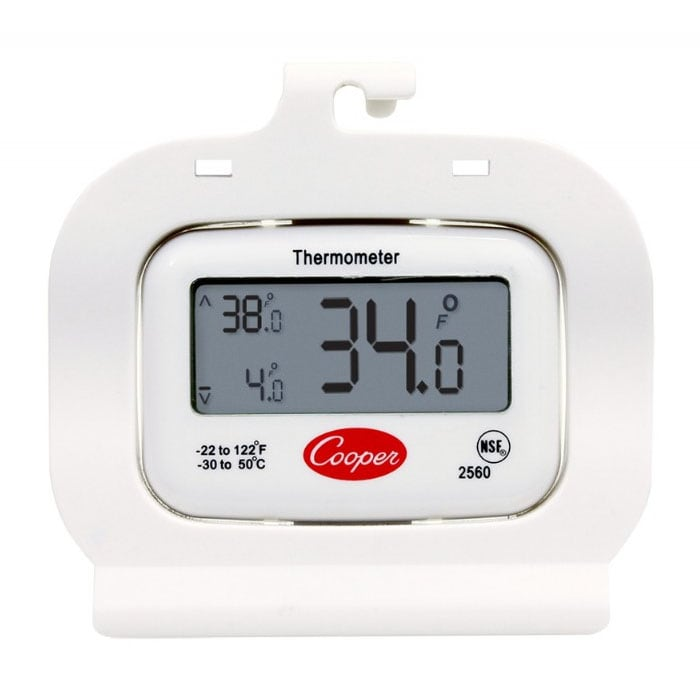 COOPER 2560 Refrigerator Freezer Thermometer, -22 To 122-...