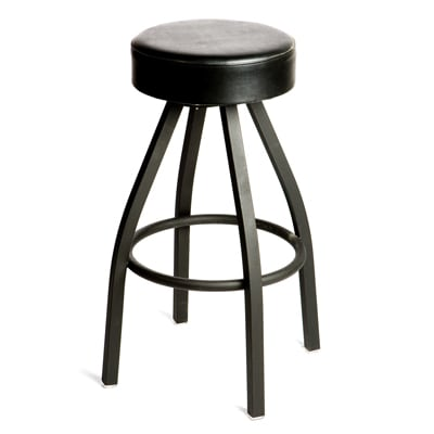 Oak Street Sl2132 Blk Swivel Bar Stool W Tapered Frame