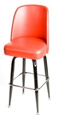 Oak Street Sl2133 Red Swivel Bar Stool W Square Single