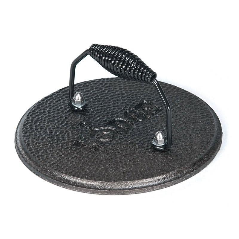 Lodge LGPR3 7.5 Round Cast Iron Grill Press w/ Cool Grip ...
