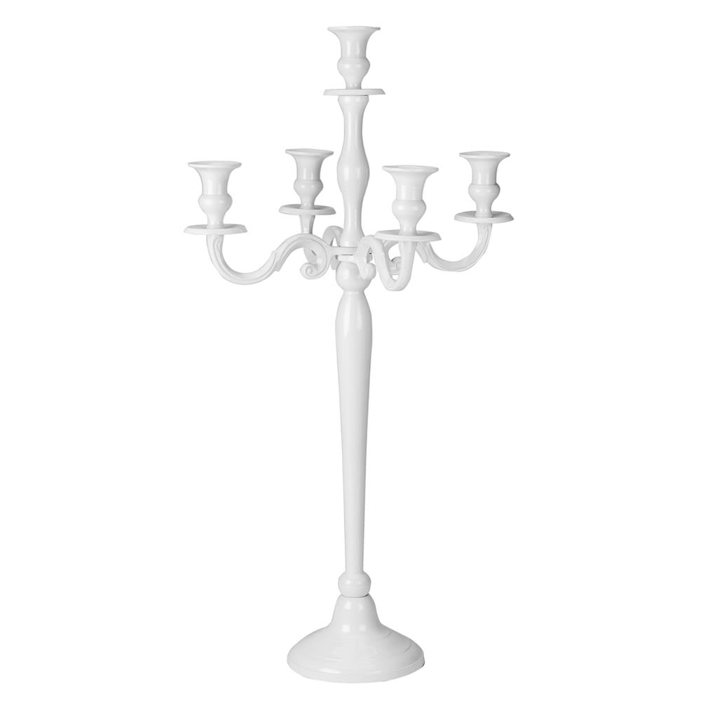 Walco LIW6931 5-Light Candelabra - 31 Tall, White