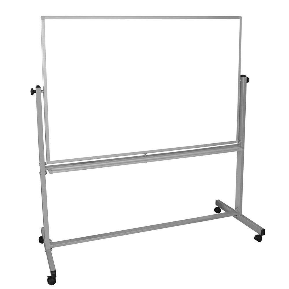 luxor MB6040WW Reversible Magnetic Whiteboard w/ Aluminum...