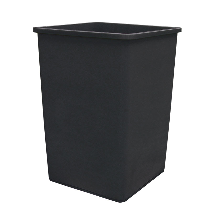 Update TCSQ35B 35gallon Commercial Trash Can Plastic Square