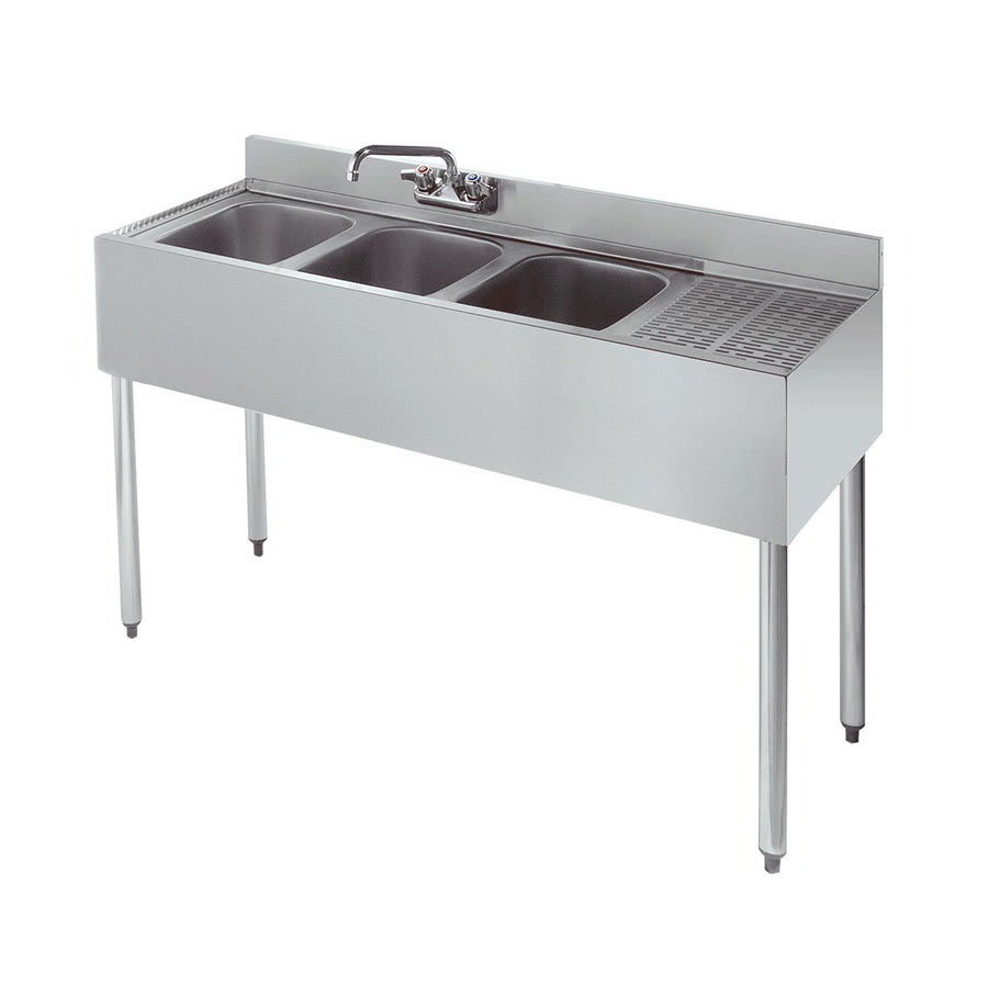 Krowne 21 43l 48 Quot 2 Compartment Sink W 10 Quot W X 14 Quot L Bowl