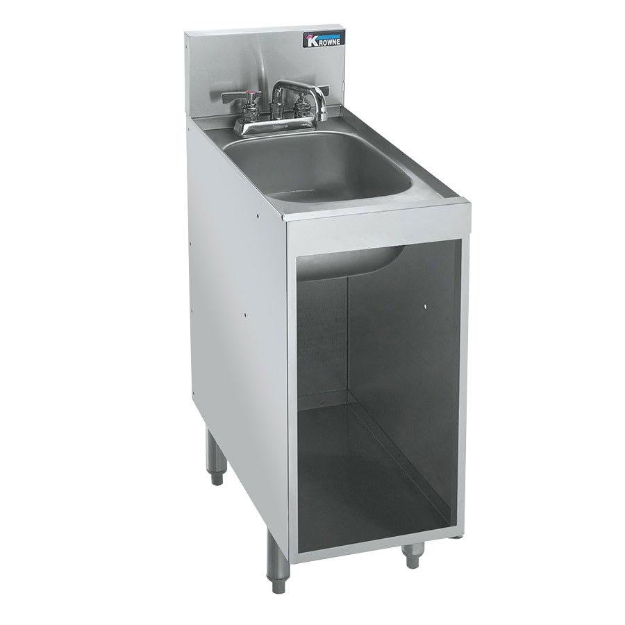 KROWNE KR21-S12C Under Bar Storage Unit w/ Sink - Open Ba...