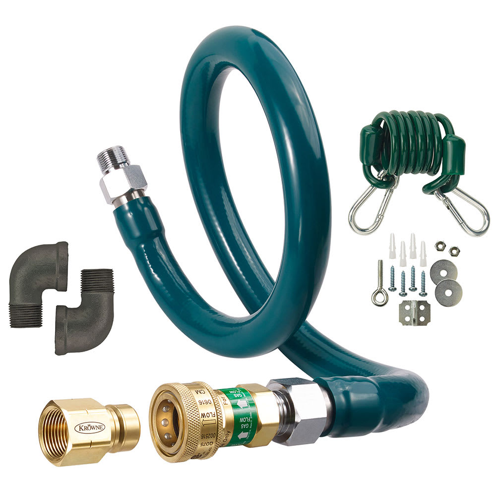 KROWNE M7524K3 24 Gas Connector Kit w/ 3/4 Female/Male Co...