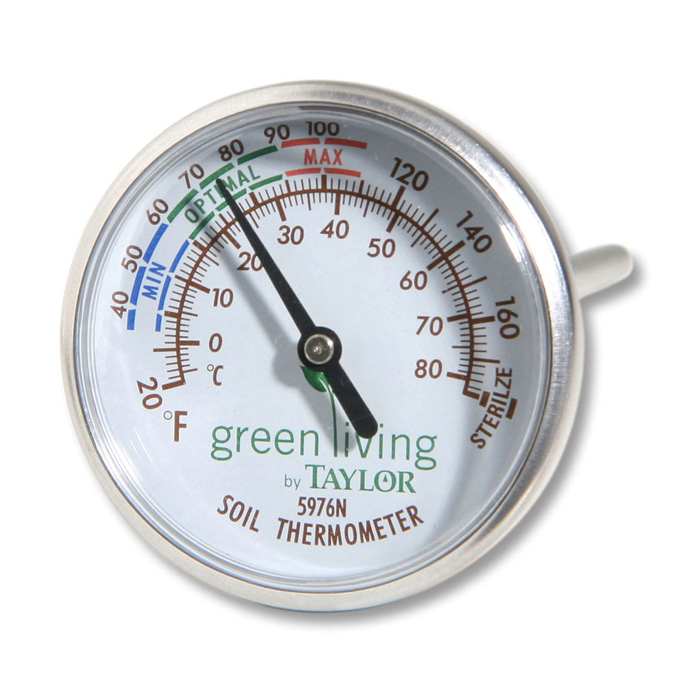 Taylor 5976N Soil Thermometer w/ Dial Display