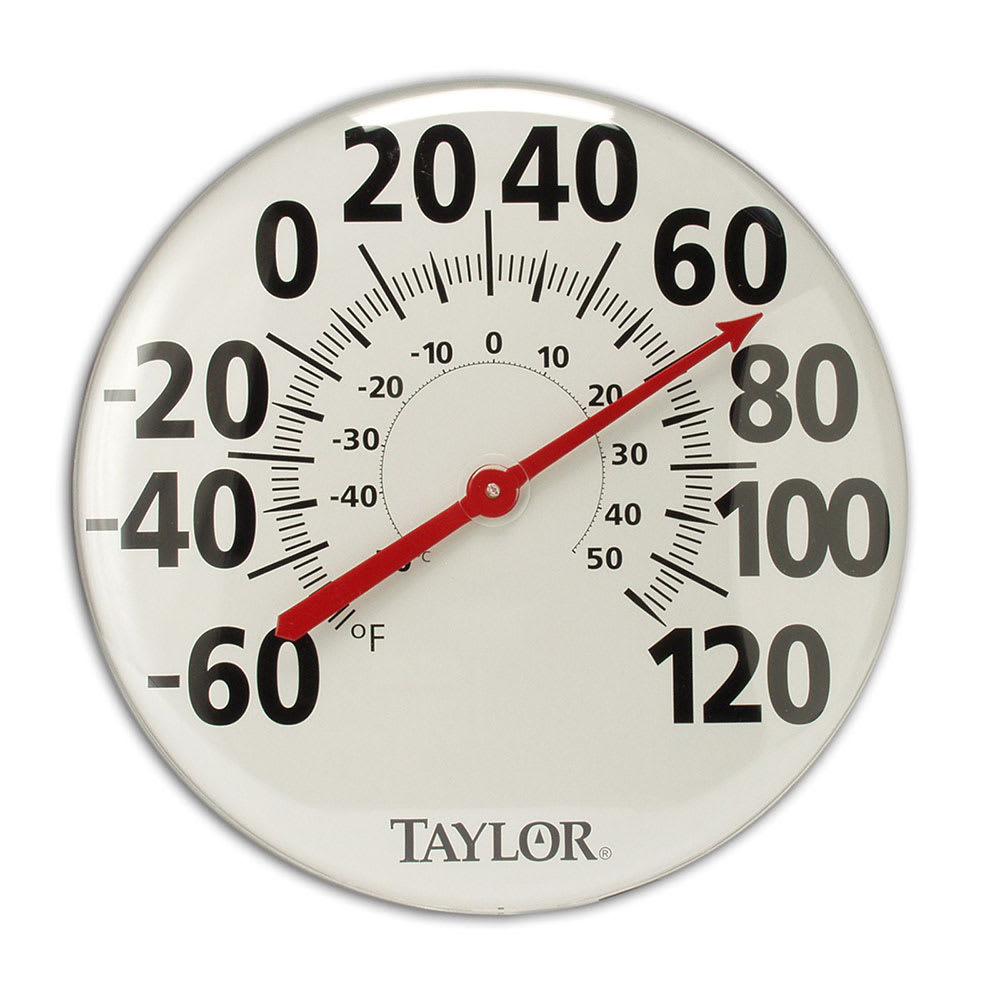 Taylor 681 Extra Large Thermometer w/ Bold Graphics, Brus...
