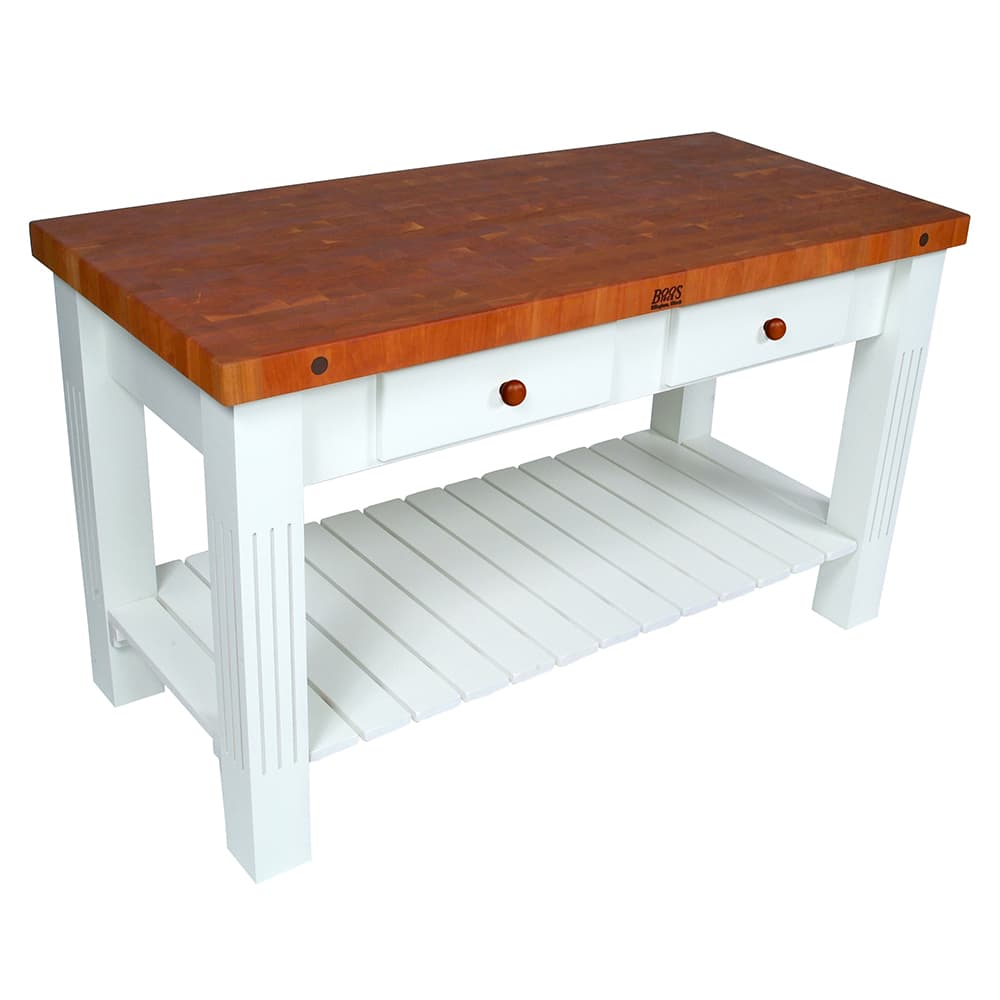 John Boos Chy Grz6028 Al Grazzi Kitchen Island 2 1 4 End