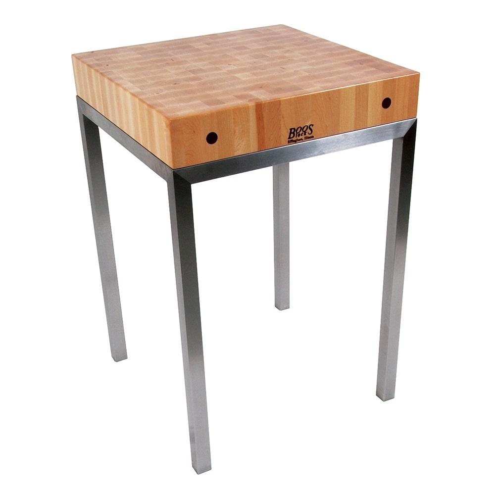 john boos met stn24 metropolitan station kitchen island table 24 w x 24 w x 36 h 4 thick. Black Bedroom Furniture Sets. Home Design Ideas