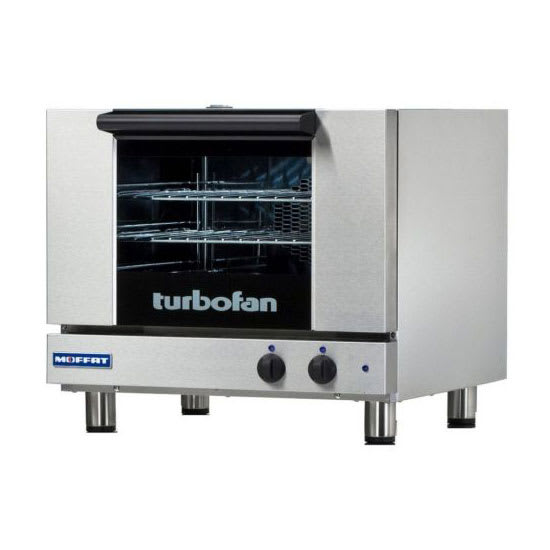 Moffat E22M3 Manual Electric Half-Size Tray Turbofan Convection Oven Stainless Steel