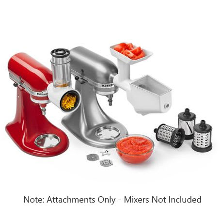 Kitchenaid Ksmfppa Mixer Attachment Pack Rotor Slicer