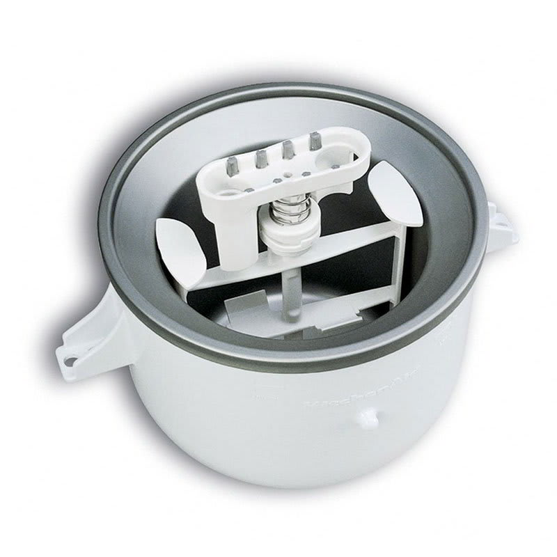 KitchenAid KICA0WH Ice Cream Maker Attachment for Most Ki...