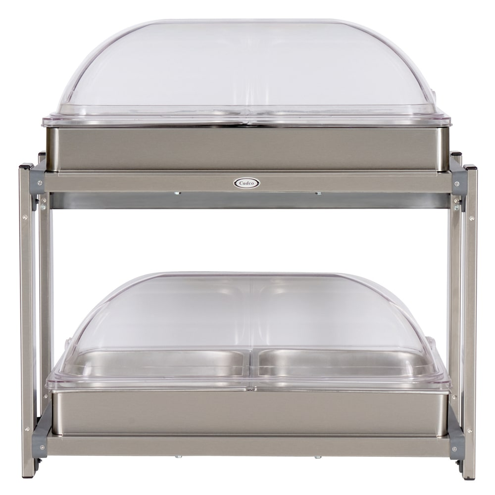 Cadco CMLB24RT Multi-Level Buffet Warmer, (2) Clear Low P...
