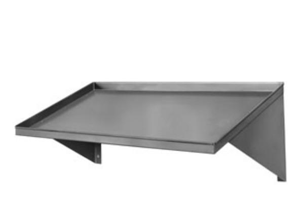 "CMA 12620.00 42"" Slanted Rack Shelf, Stainless Steel, Wall"