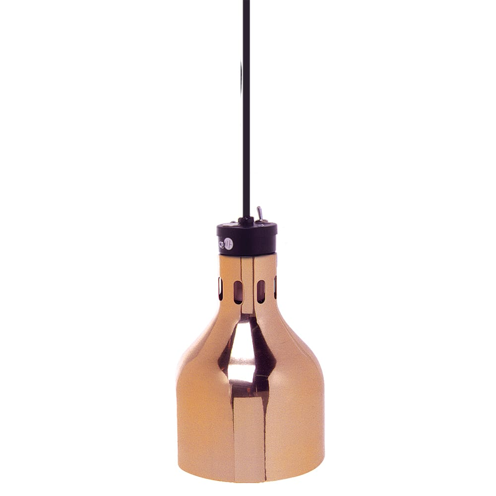 Cres Cor IFW-66-10 86.5 Drop Cord Ceiling Mount Warmer - 1-Lamp, Brass