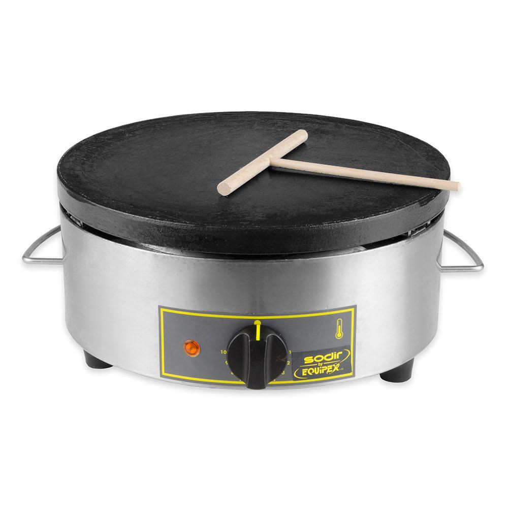 Equipex 400FE 15.75 Single Crepe Maker w/ Cast Iron Plate...