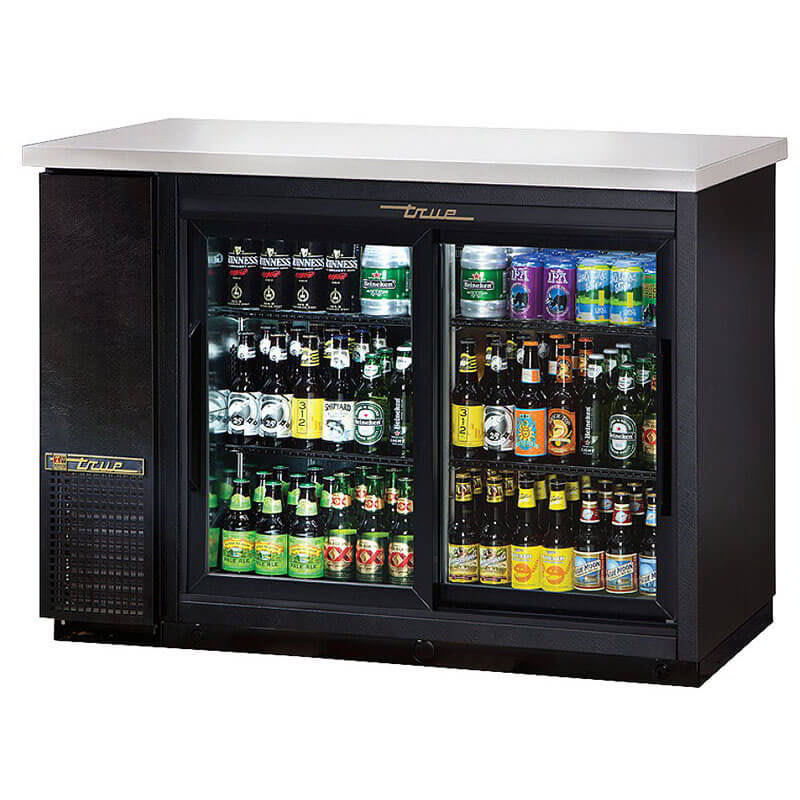 True Tbb 24 48g Sd Hc Ld 49 Quot 2 Section Bar Refrigerator