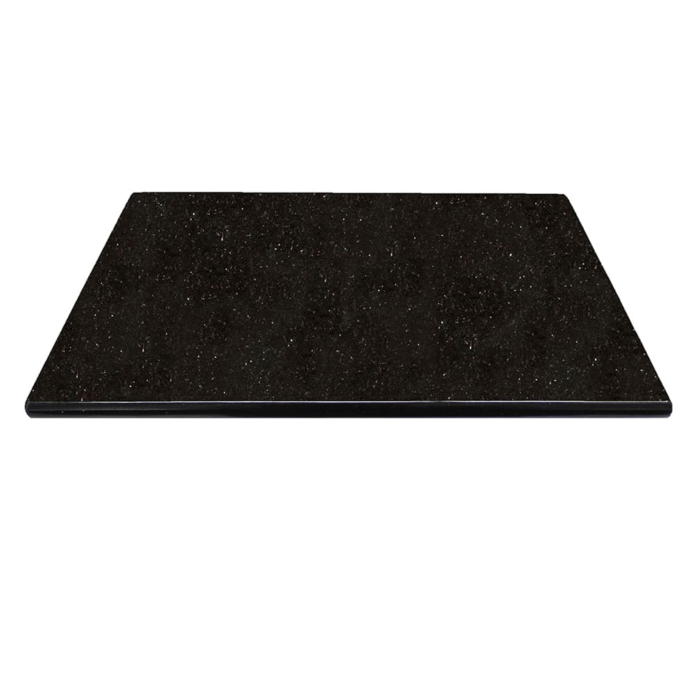 Art Marble G206-36X36 36 x 36 Square Granite Table Top - Indoor/Outdoor, Black Galaxy