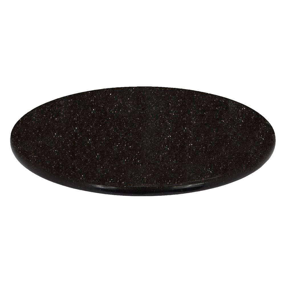 Art Marble G206-48RD 48 Round Granite Table Top - Indoor/Outdoor, Black Galaxy