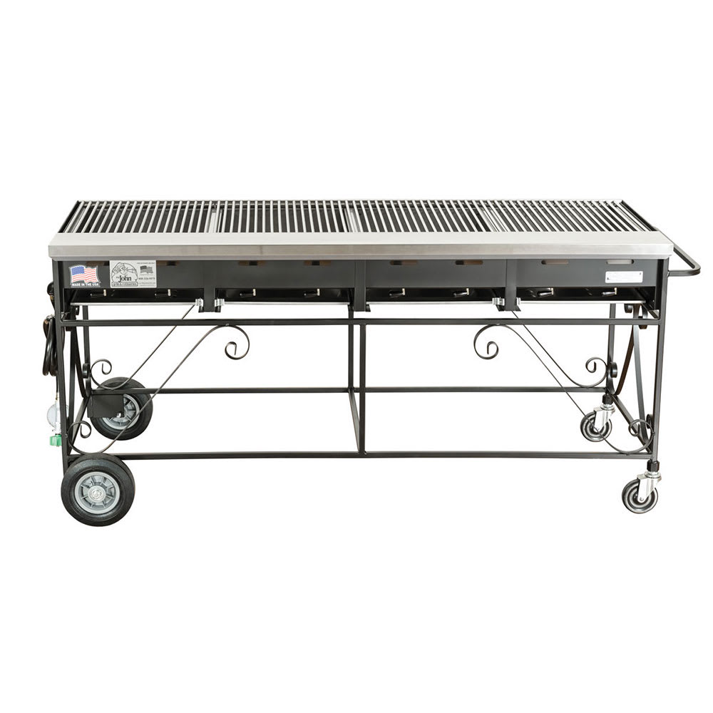 big johns grills rotisseries a4cc lpss 65 mobile gas commercial outdoor grill w multiple. Black Bedroom Furniture Sets. Home Design Ideas