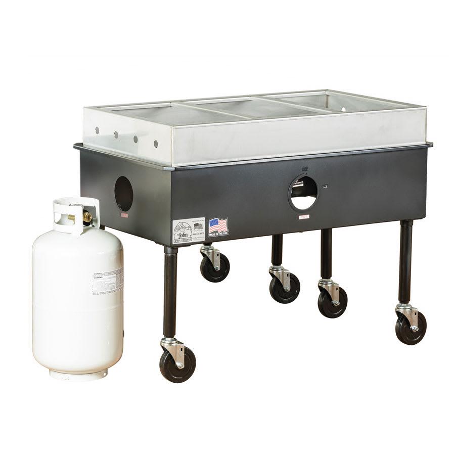Big Johns Grills Amp Rotisseries St 3 Portable 3 Bay Steam