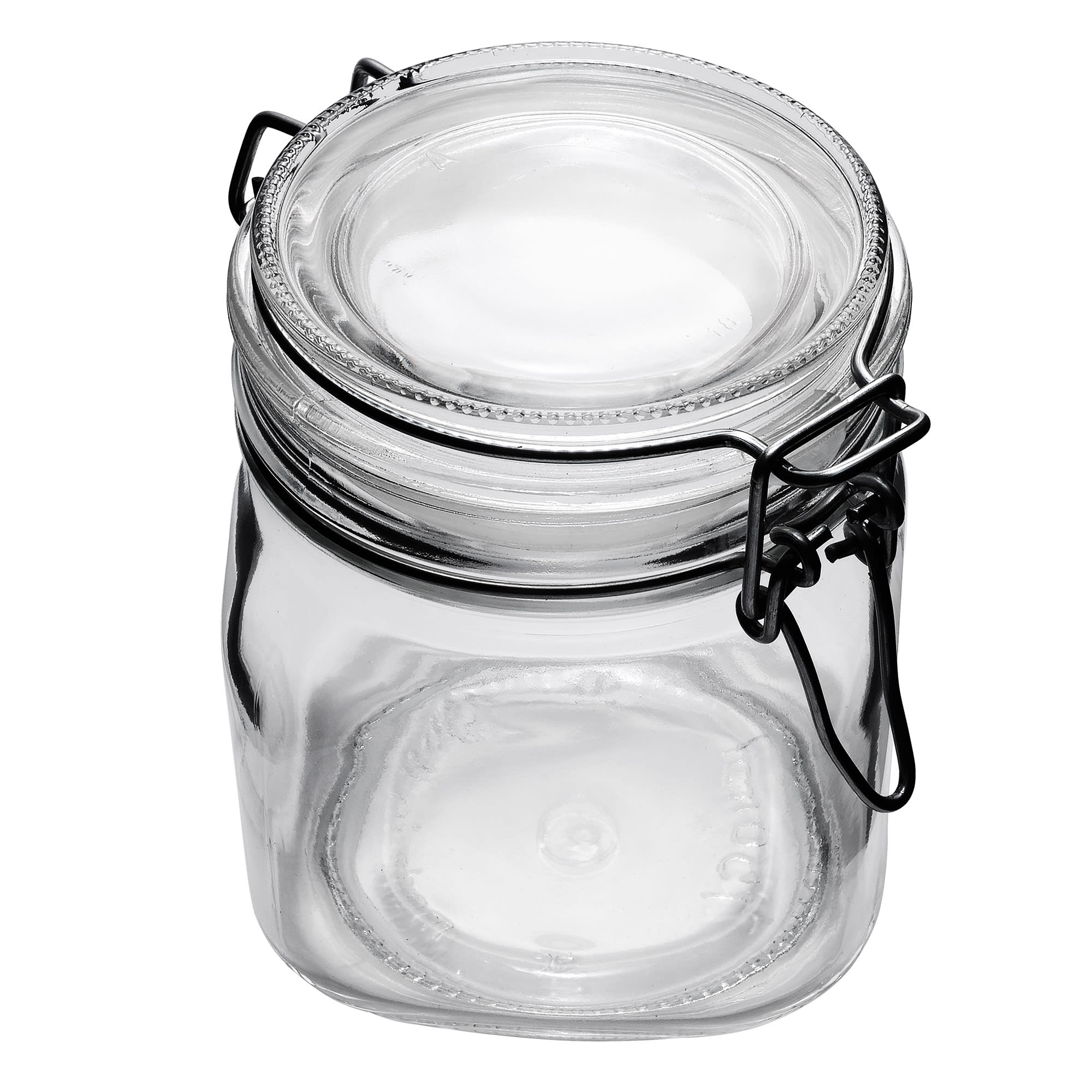 Libbey 17209925 25.25 oz Glass Jar - Clamp Lid, Large Ope...