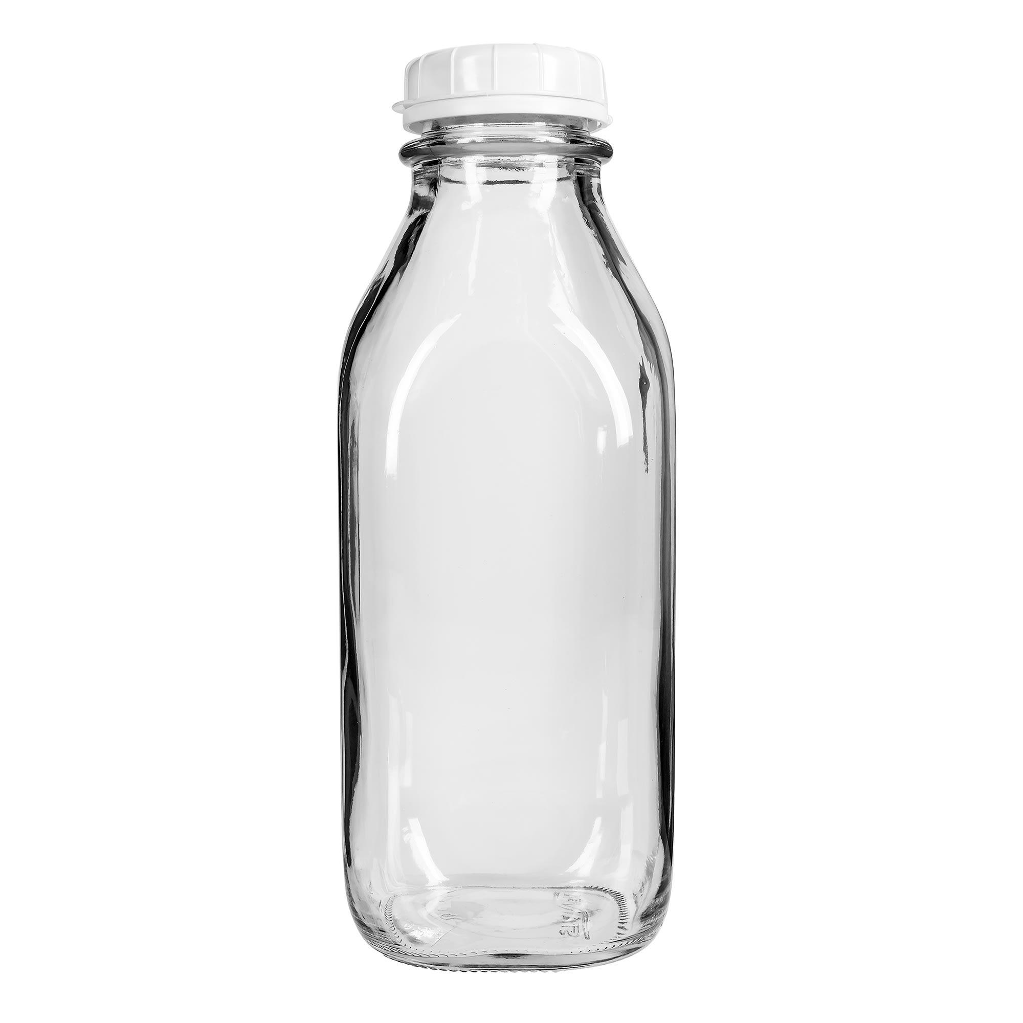 Libbey 56634 33.75-oz Milk Bottle w/ Plastic Lid